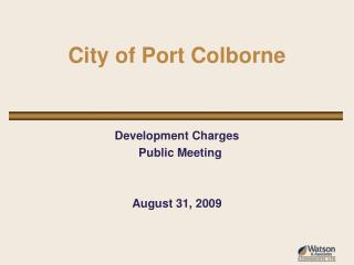 City of Port Colborne