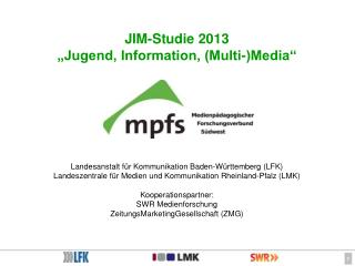 "JIM-Studie 2013 ""Jugend, Information, (Multi-)Media"""
