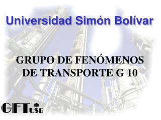 GRUPO DE FENÓMENOS DE TRANSPORTE G 10