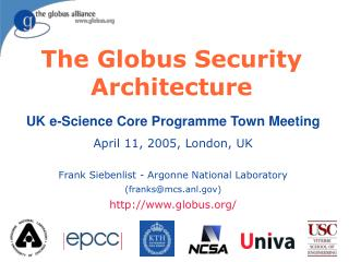 The Globus Security Architecture