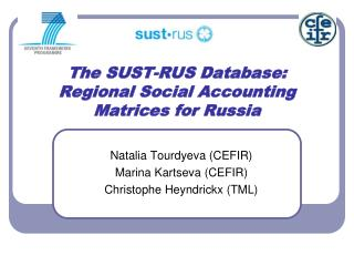 The SUST-RUS Database: Regional Social Accounting Matrices for Russia