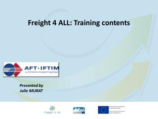 Freight 4 ALL: Training  contents