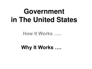 Government  in The United States