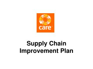 Supply Chain Improvement Plan