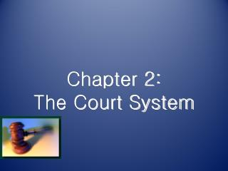 Chapter 2: The Court System
