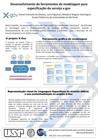 Desenvolvimento de ferramentas de modelagem para especificação do serviço  x-gov