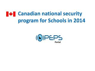 Canadian national security program for Schools in 2014