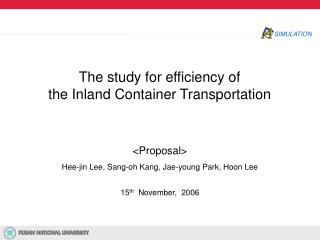 The study for efficiency of  the Inland Container Transportation