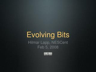 Evolving Bits