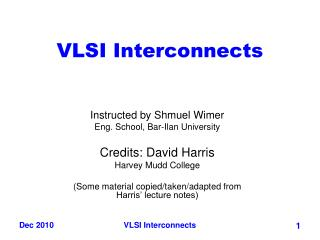 VLSI Interconnects