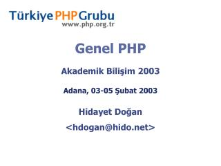 Genel PHP