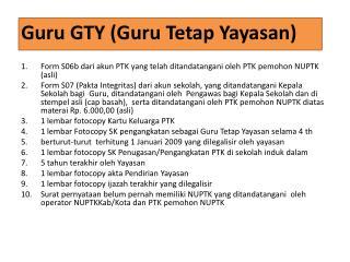 Guru GTY (Guru Tetap Yayasan )