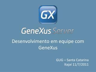 Desenvolvimento em equipe com GeneXus
