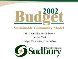 By: Councillor Austin Davey Interim Chair Budget Committee of the Whole