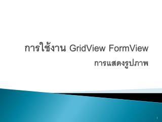 การ ใช้งาน GridView FormView การแสดงรูปภาพ