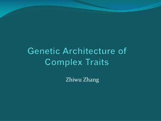 Genetic Architecture of Complex Traits