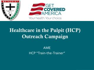 Healthcare in the Pulpit (HCP) Outreach Campaign