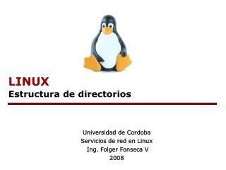 LINUX Estructura de directorios