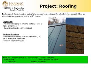 Project: Roofing