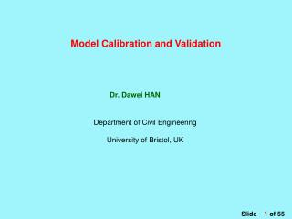 Model Calibration and Validation