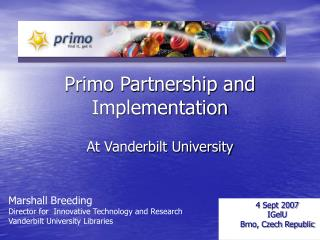 Primo Partnership and Implementation