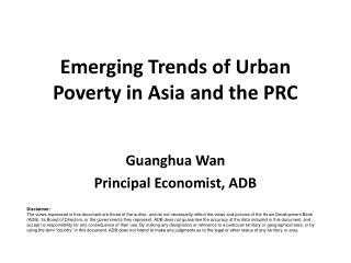 Emerging Trends of Urban Poverty in Asia and the PRC
