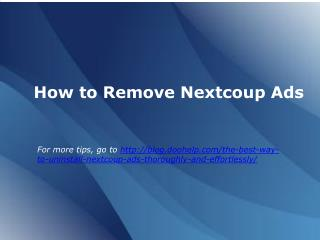 how to remove nexcoup ads
