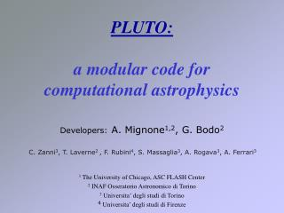 PLUTO: a modular code for computational astrophysics