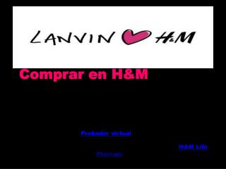 Comprar en H&M ¡Bienvenido/a a H&M y hm!