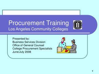Procurement Training Los Angeles Community Colleges