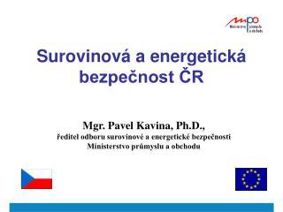 Surovinová a energetická bezpečnost ČR