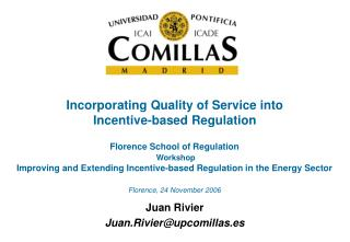 Incorporating Quality of Service into Incentive-based Regulation