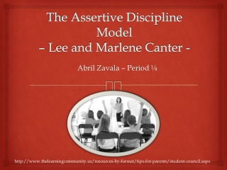 Lee and Marlene Canter s Assertive Discipline