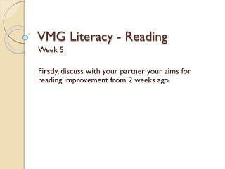 VMG Literacy - Reading