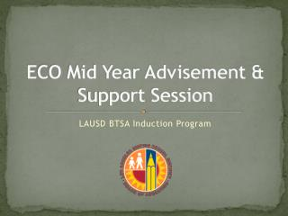 ECO Mid Year Advisement & Support Session