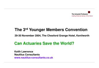 The 3 rd Younger Members Convention