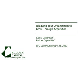 Readying Your Organization to  Grow Through Acquisition