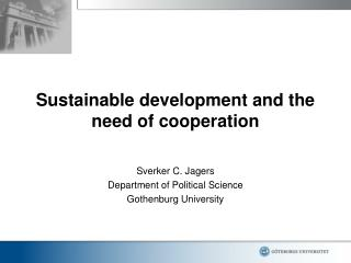 Sustainable development and the need of cooperation