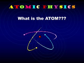 A t o m i c P h y s i c s What is the ATOM???