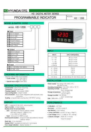 HD  DIGITAL METER  SERIES