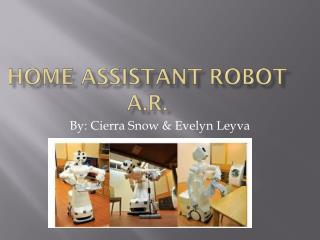 Home assistant robot  a.r .