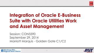 Integration of Oracle E-Business Suite with Oracle Utilities Work and Asset Management