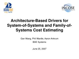 Architecture-Based Drivers for System-of-Systems and Family-of-Systems Cost Estimating