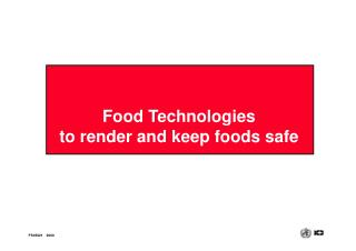 Food Technologies
