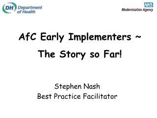 Stephen Nash Best Practice Facilitator
