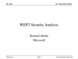 WEP2 Security Analysis