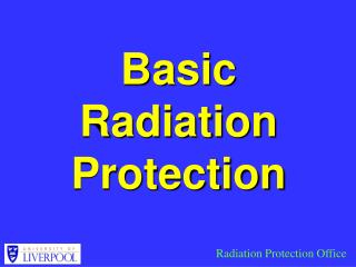 Basic Radiation Protection