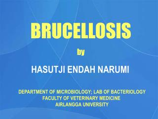 BRUCELLOSIS by