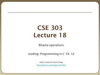 CSE 303 Lecture 18