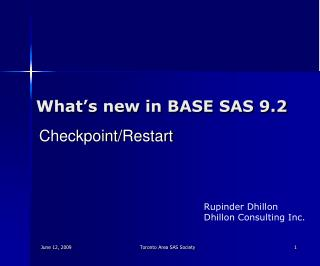 What's new in BASE SAS 9.2